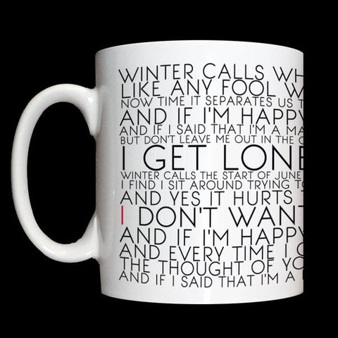 Winter Calls Lyric Mug