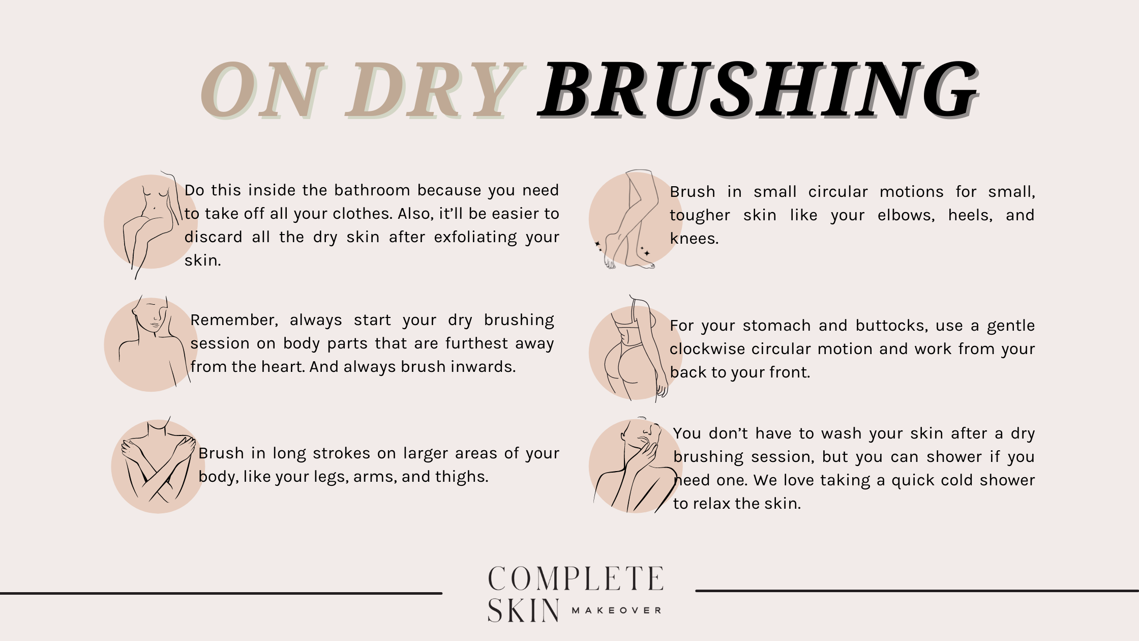 How to dry brush your skin.