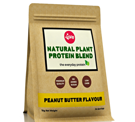 Sweetener-Free Vegan Protein Powder, Peanut Butter