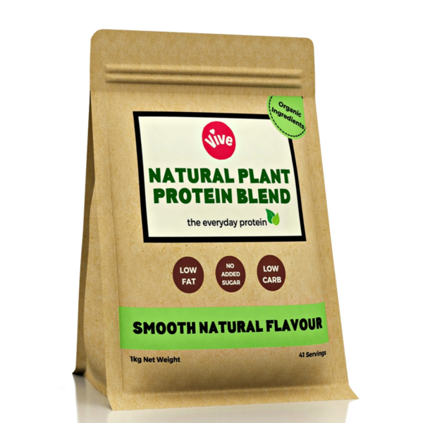 Vegan Protein Powder Blend, Smooth Natural Flavour