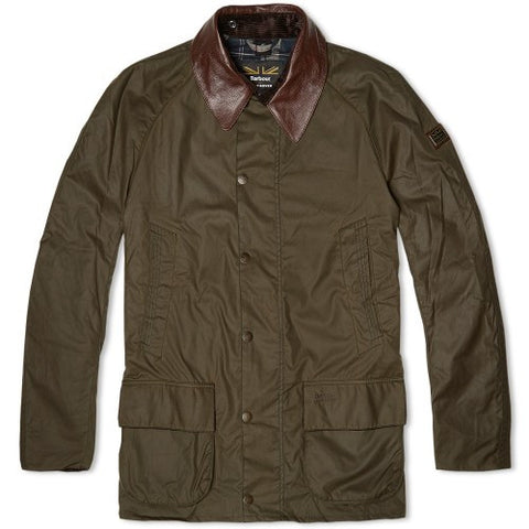 Land Rover x Barbour Men's Carraw Waxed Jacket in Olive
