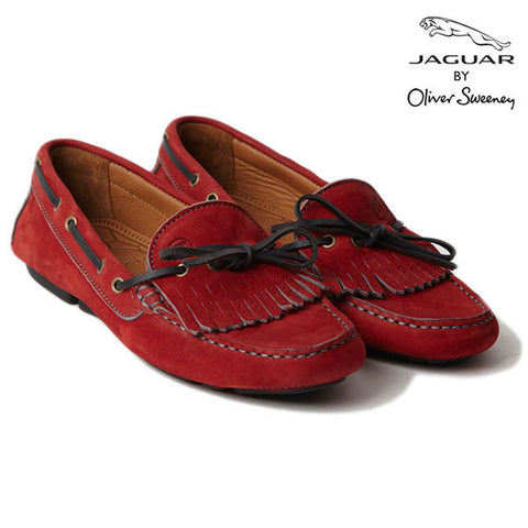 "Jaguar ""Rosa'' Red Calf Suede Leather Ladies' Moccasin"