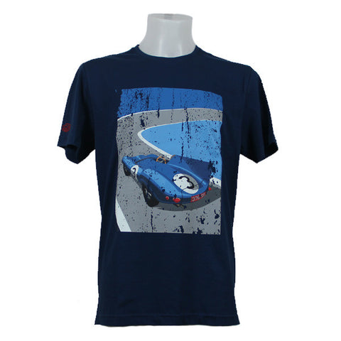 Jaguar Men's D-Type Le Mans 1957 Graphic T-Shirt-Navy