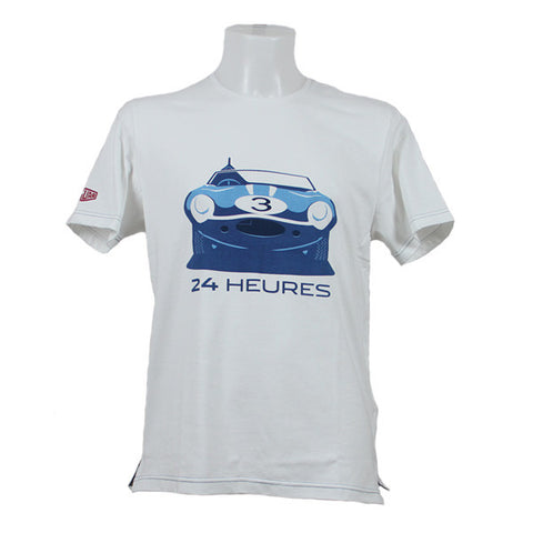 Jaguar Heritage '57 Graphic 24 Heures T-Shirt – White