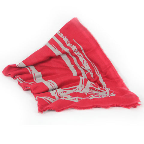 Jaguar Cashmere Scarf - Red