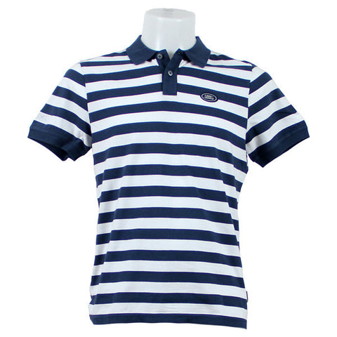 Land Rover Block Stripe Polo Shirt - Navy