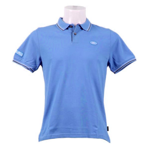 Land Rover Men's Block Stripe Polo Shirt - Bright Blue