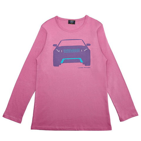 Land Rover Girl's Range Rover Evoque Long Sleeve T-Shirt - Pink