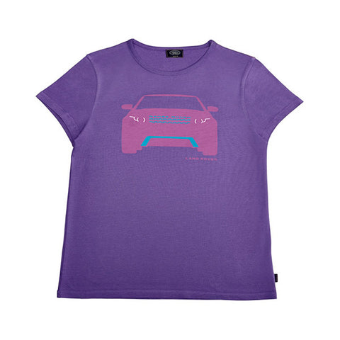 Land Rover Girl's Range Rover Evoque Print T-Shirt - Purple