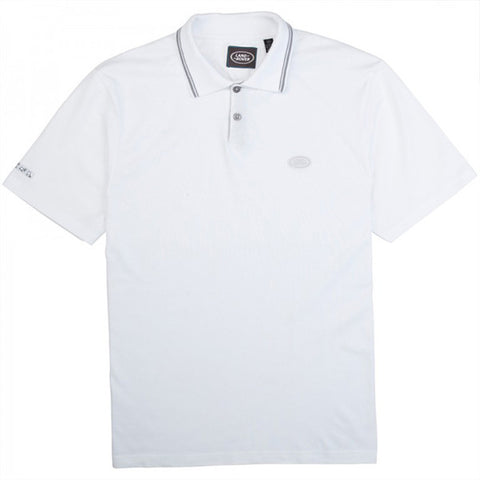 Land Rover Men's Polo Shirt - White