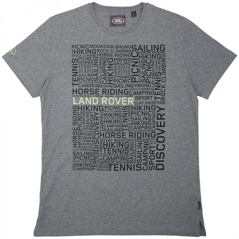 Land Rover Men's T-Shirt - Grey
