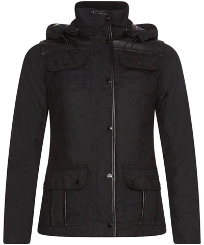 Land Rover x Barbour Women's Greenleak Wax Jacket - Black