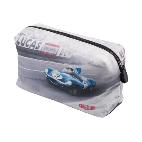 Jaguar Heritage 1957 Le Mans D-Type Canvas Wash Bag