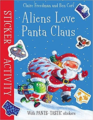 Aliens Love Panta Claus Sticker Activity