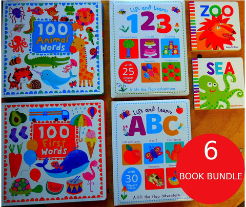 First ABC and 123: 6 Book Bundle
