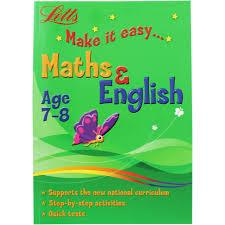 Children's Books Outlet |Letts Make it Easy Maths and English  (Age 7-8)