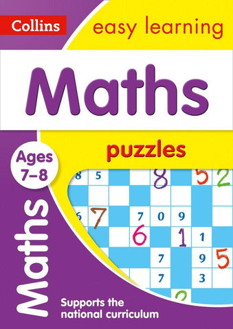 Children's Books Outlet |Easy Learning Maths Puzzles 7 to 8 years by Collins