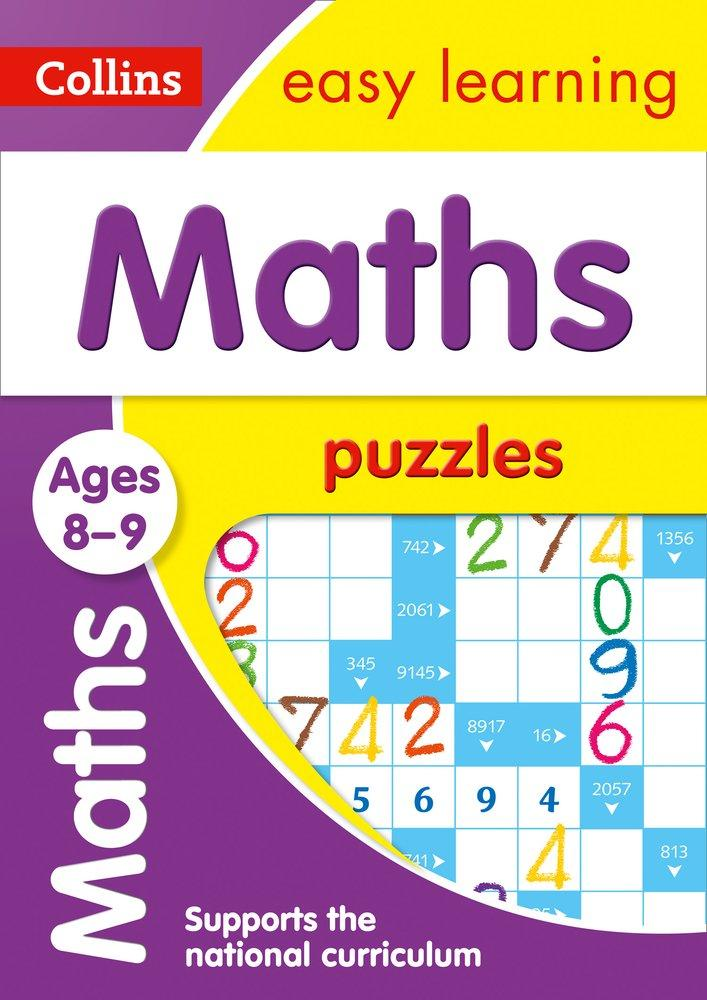 Children's Books Outlet | Easy Learning Maths Puzzles 8 to 9 years by Colliins