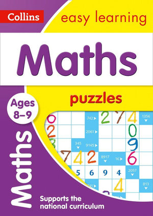 Children's Books Outlet |Easy Learning Maths Puzzles 8 to 9 years by Colliins