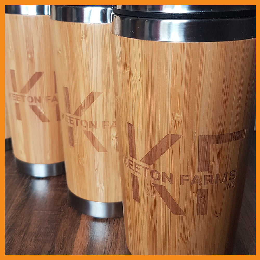 Customized Wood Travel Mugs - Tumblers with Personalized Engravings