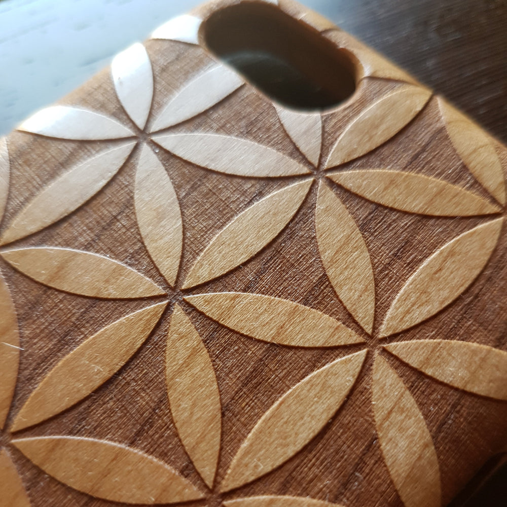 Flower of Life Wood Phone Cases | Litha Creations