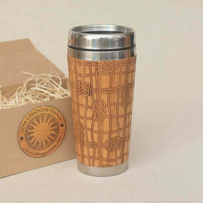 MOORING Engraved Wood Travel Mug Tumbler - litha-creations-france