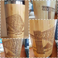 YOUR IMAGE FULLY Engraved All Around Wood Travel Mug Wooden Tumbler - litha-creations-france