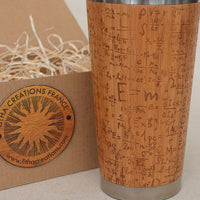EMC2 Engraved Wood Travel Mug Tumbler - litha-creations-france