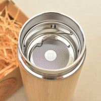 BEAR Wood Thermos Vacuum Flask