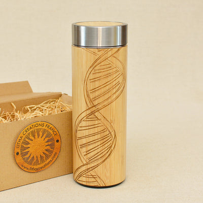 DNA Wood Thermos Vacuum Flask - litha-creations-france