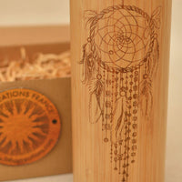 DREAMCATCHER Wood Thermos Vacuum Flask - Litha Creations France