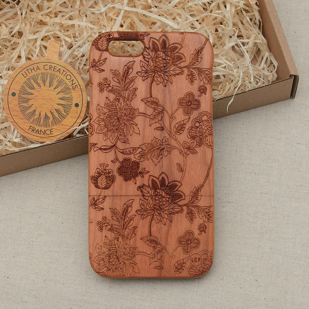 Abstract Floral DREAMILY Wood Phone Case