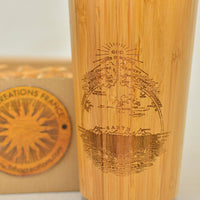 FIRMAMENT Flat Earth Engraved Wooden Travel Mug Tumbler - litha-creations-france