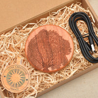 FRACTALS Wood Gift Wireless Phone Charger 10W QI Charging Pad Custom Engraved