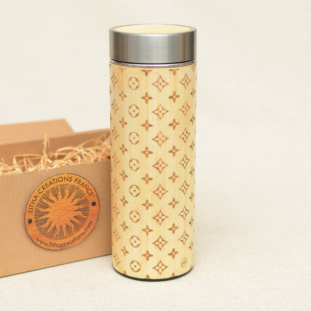 LOUIS LIGHT Wood Thermos Vacuum Flask