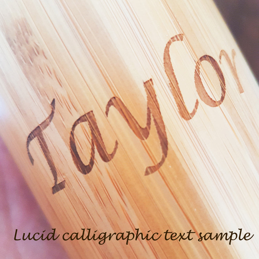 Your IMAGE or TEXT on BOTH SIDES Wood Thermos - litha-creations-france