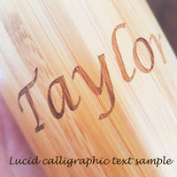 NAME on Wood Thermos - litha-creations-france