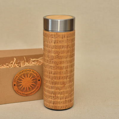 NOTES Wood Thermos Vacuum Flask - litha-creations-france