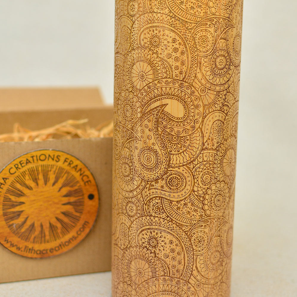 PAISLEY Wood Thermos Vacuum Flask