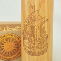 SAILING SHIP Wood Nautical Gift Thermos Vacuum Flask