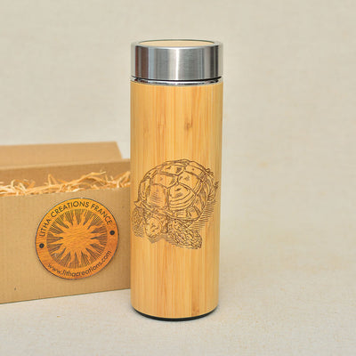 TURTLE Wood Thermos Vacuum Flask