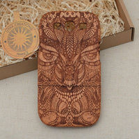 Psychedelic Wood Phone Case AMAZON TRIP - litha-creations-france