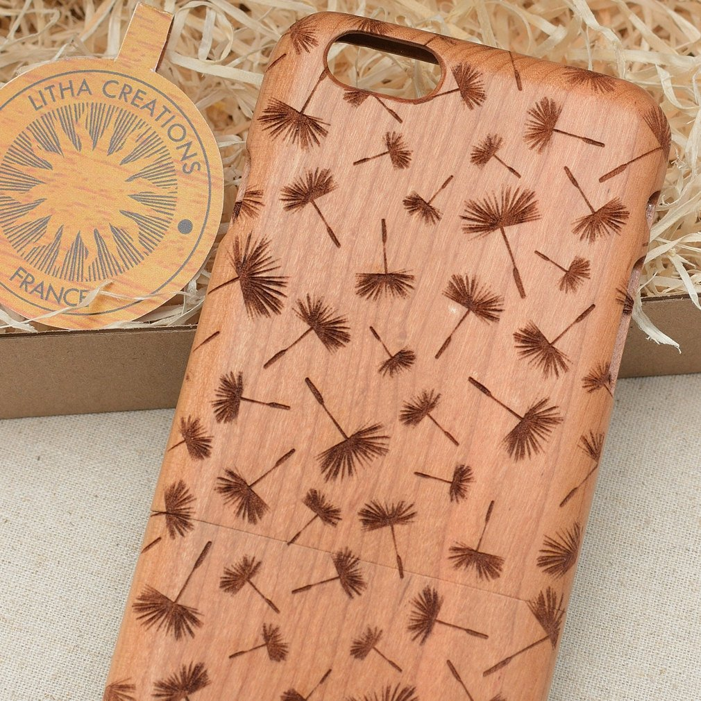 Floral DAYDREAMING Wood Phone Case