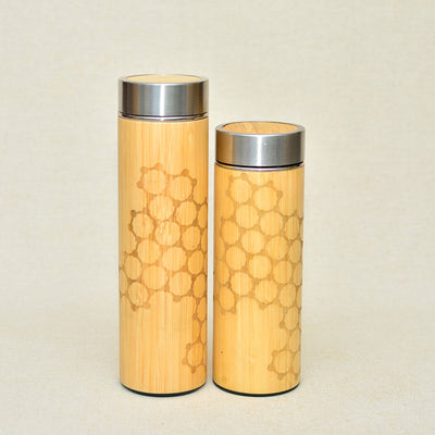 GRAPHENE SHEET Wood Thermos Small or Large Vacuum Flask