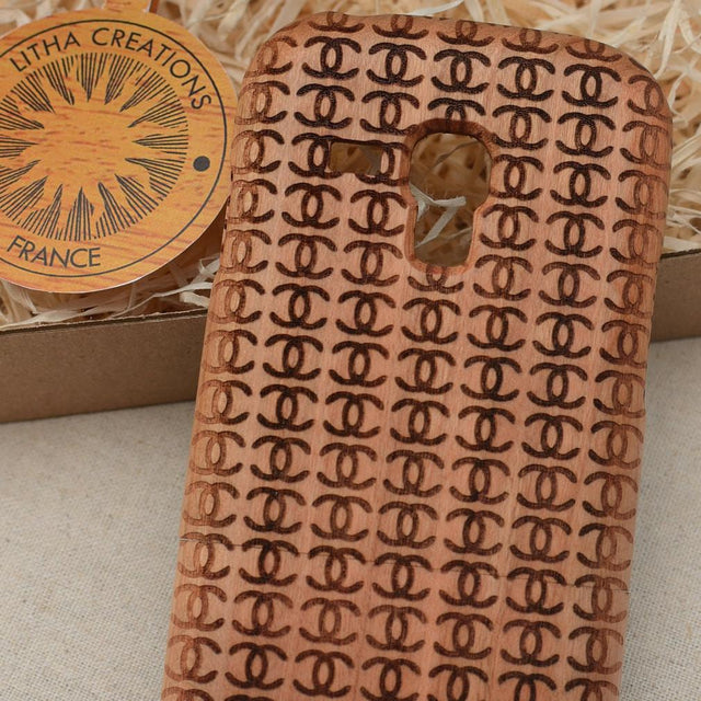 Geometric Fashion COCO PISCES Wood Phone Case