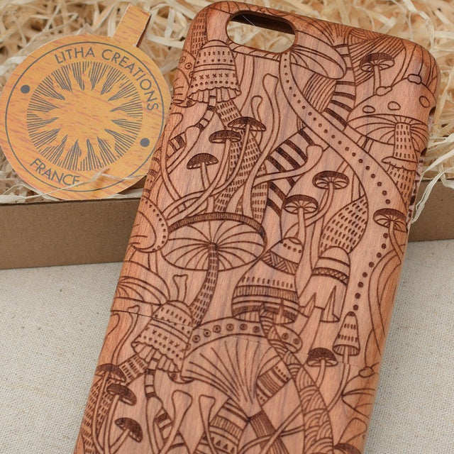 Psychedelic / Mushrooms DMT Wood Phone Case