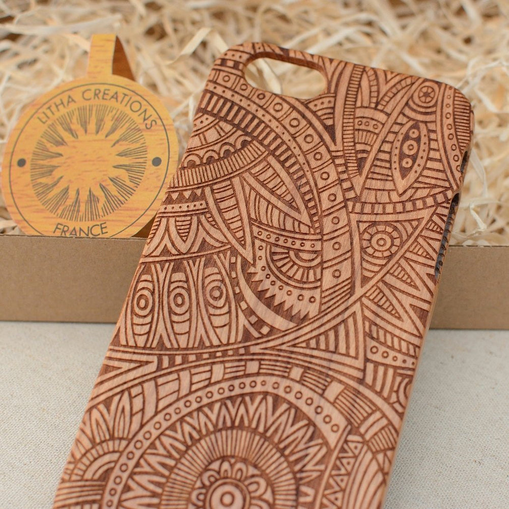 Psychedelic DREAM Wood Phone Case - litha-creations-france