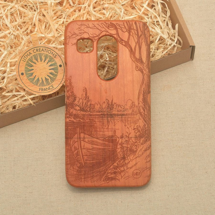 EARLY MORNING Wood Phone Case Nature Custom Design