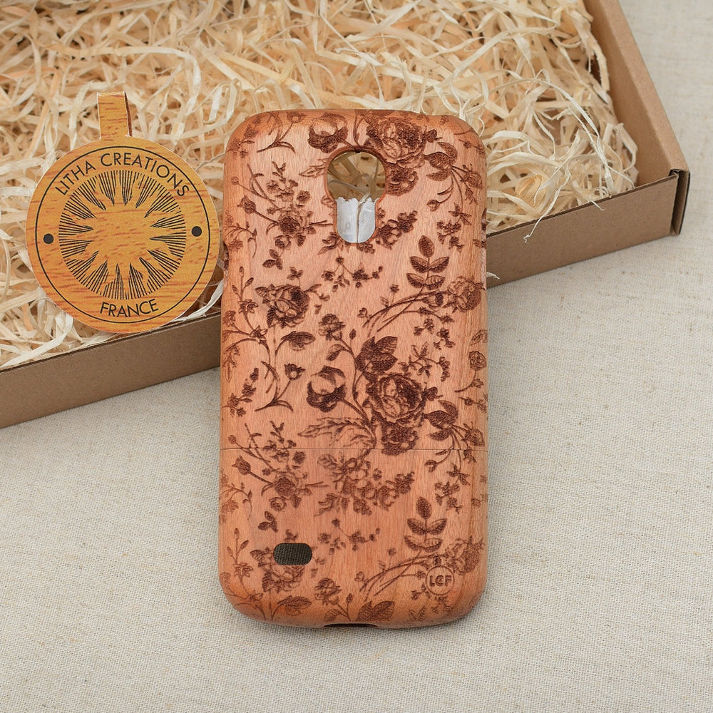 FRENCH ROSES Wood Phone Case Nature Custom Design