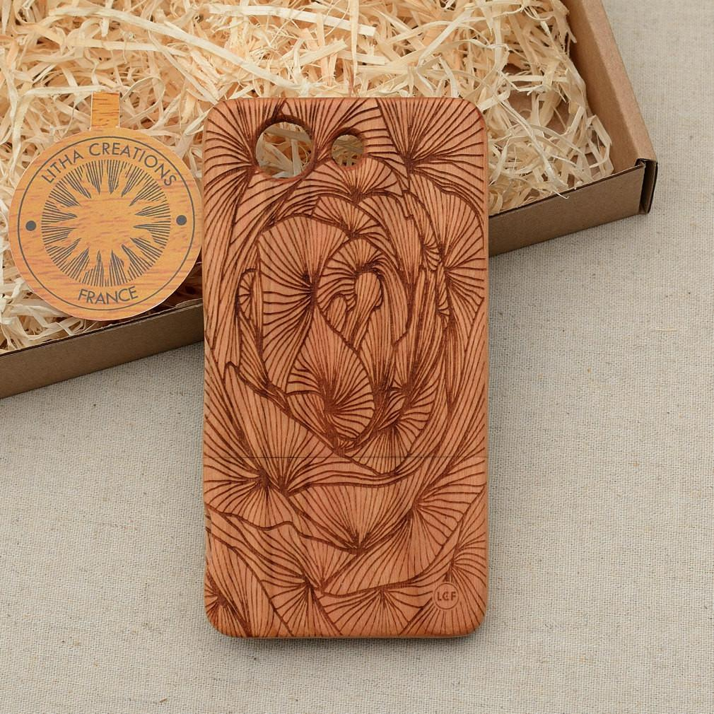 Abstract Floral FULL FLORA Wood Phone Case